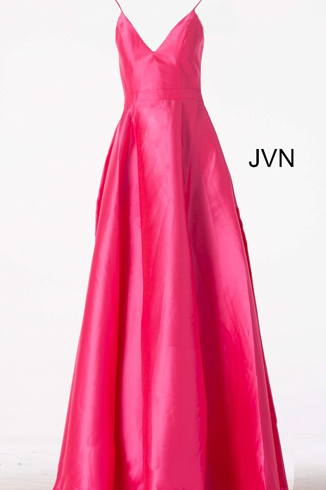 6f59502244a Black and Pink V neckline Pleated A line skirt and v neckline long ...
