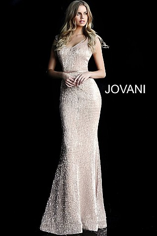 bb242731e4e6 Jvn Light Pink Fitted Sequin Embellished Prom Dress JVN62499