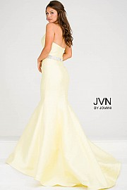 Yellow Sweetheart Neck Mermaid Prom Dress JVN31939