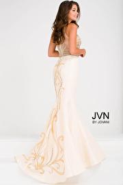 Nude Embellished Bodice Mermaid Prom Dress JVN47813