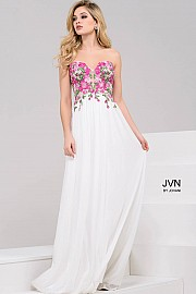 White multi Sweetheart Neck Long Prom Dress JVN50057