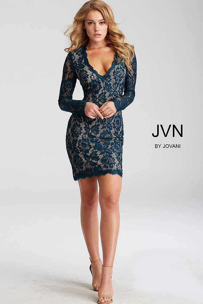 The ia beaded v-neck cocktail dress