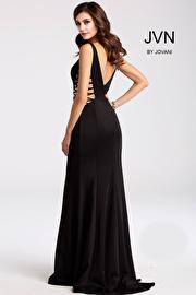 Black Fitted Long Sleeveless Prom Dress JVN54570