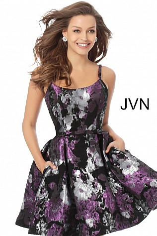Jvn Multi Color Fit and Flare Homecoming Dress JVN63386 809502837f
