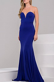 Purple Strapless Simple Dress JVN32801