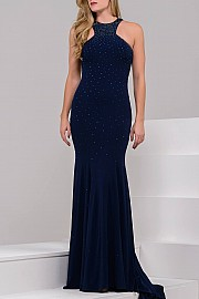 Red Jersey Prom Dress JVN35097