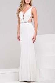 Black Cut out Sleeveless Jersey Dress JVN45578
