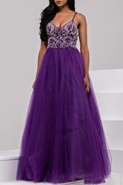 Ivory Sweetheart Neckline Embellished Bodice Prom Ballgown JVN47548