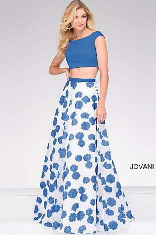 Ivory Royal Cap sleeve Two Piece Prom Ballgown JVN47874