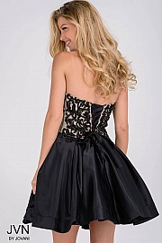 Black Sweetheart Neck Fit and Flare Homecoming Dress JVN45583