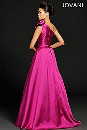 One Shoulder Mikado Evening Dress JVN98249