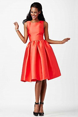 JVN23434 Red Fit and Flare Short Dress