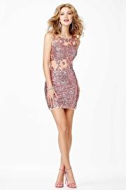 Pink Sleeveless Cocktail Dress JVN29050