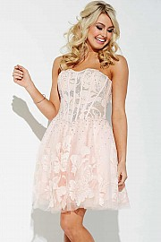 Pink Sexy Short Prom Dress JVN37882