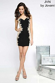 Black Sleeveless Jersey Dress JVN20979