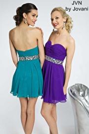 Strapless Chiffon Short Dress JVN90088