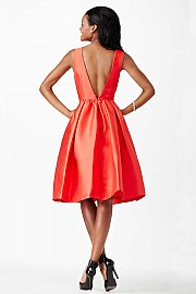 Red Fit and Flare Short Dress JVN23434