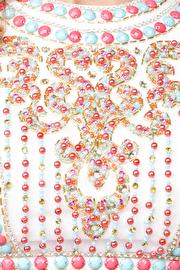 White Open Back Jersey Dress JVN27610