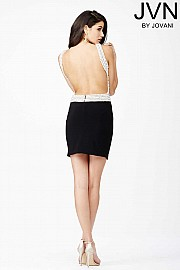 Open Back Short Dress JVN27817