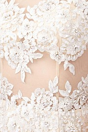 Ivory Sleeveless Cocktail Dress JVN31437