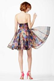 Multi Strapless Short Dress JVN32224
