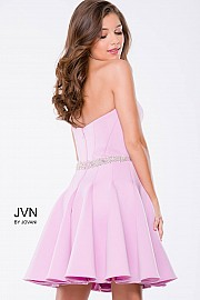 Lilac Scuba Fit and Flare Strapless Short Dress JVN36680