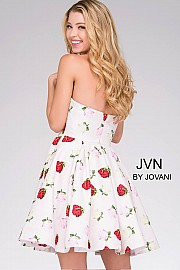 Multicolored Strapless Print Cocktail Dress JVN42902