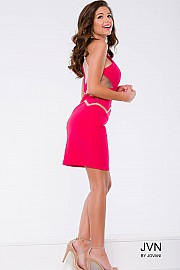 Lipstick Sleeveless Fitted Jersey Dress JVN45200
