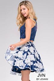 Blue Print Two Piece Short Dress JVN47032