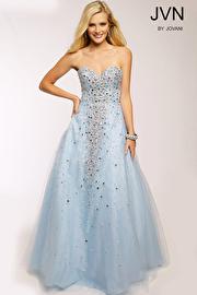 Blue Strapless Ballgown JVN24738