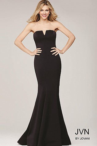 Pink Fitted Strapless Dress JVN31147
