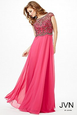 Pink Flowy Cap Sleeve Dress JVN20085