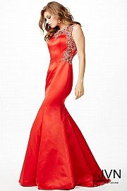 Red Mermaid Sleeveless Dress JVN20427