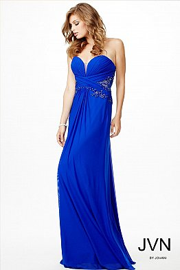Blue Sweetheart Neckline Dress JVN22257