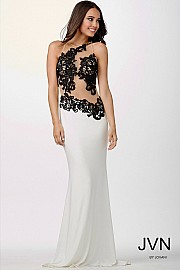 White Dress With Black Detailing JVN22529