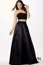 Black Two-Piece Ballgown JVN22897