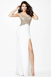 White Crystal Embellished Dress JVN23472