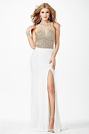 Ivory Halter Jersey Dress JVN23576