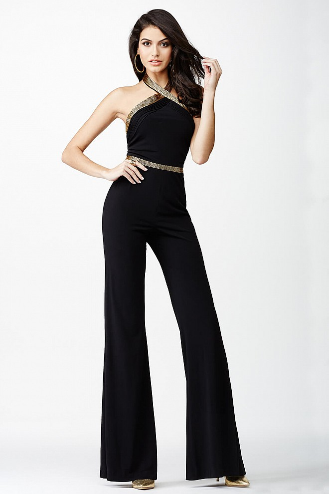 Black Jersey Jumpsuit JVN24671