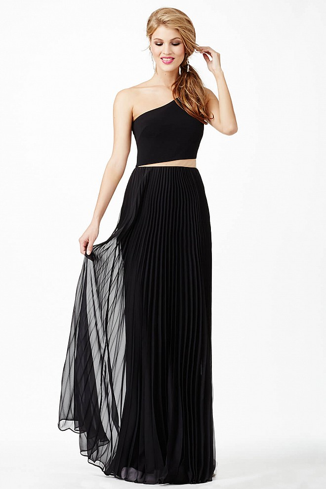 Black One Shoulder Dress JVN26732