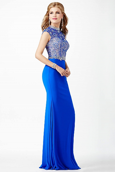 Cap Sleeve Fitted Dress JVN27620