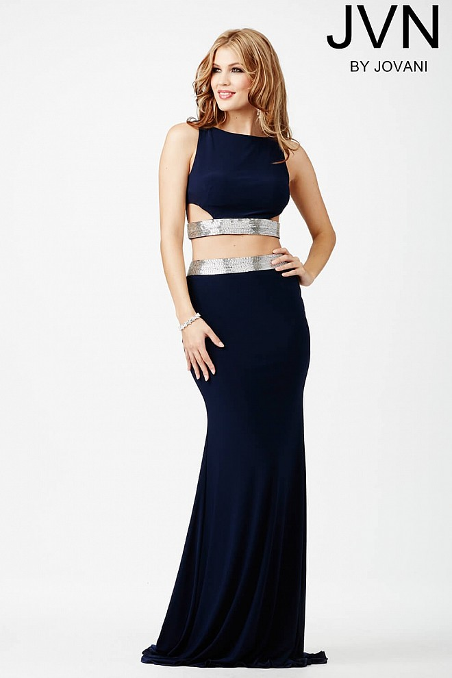 Navy Two-Piece Jersey Dress JVN28701