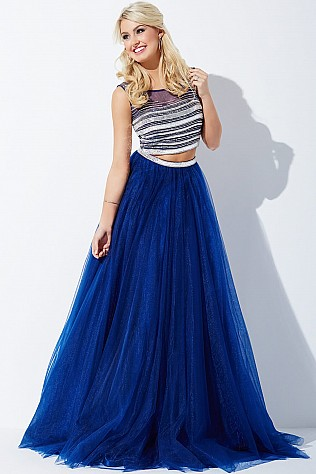Navy Two-Piece Ballgown JVN30023
