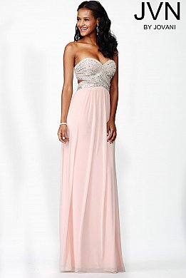 Pink Strapless Dress JVN31422