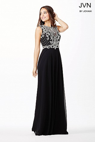 Black Sleeveless Embellished JVN31435