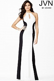 Black and White Halter Dress JVN31454