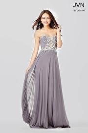 Gunmetal Strapless Prom Dress JVN33470