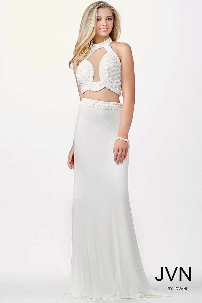 White Two-Piece Dress JVN33957