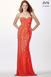 Jvn Orange Lace Prom Dress JVN34752