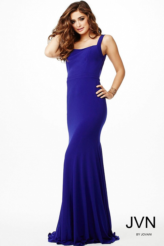Purple Sleeveless Prom Dress JVN35088
